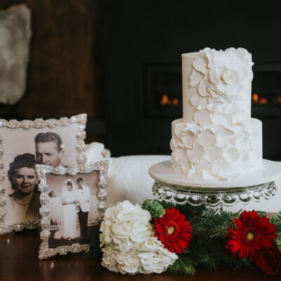 White Petal Cake